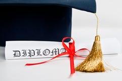 Шлем и диплом градации Стоковые Фото