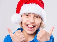 шлем маленький santa девушки Стоковое фото RF