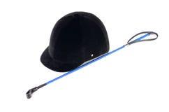 Шлем для верховой езды изолированный на белой предпосылке Стоковое Изображение