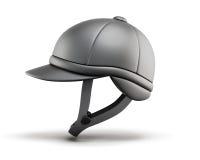 Шлем для horseriding Взгляд со стороны 3d представляют цилиндры image Стоковое Изображение RF