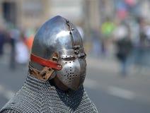 Шлем bascinet Klappvisier стоковое изображение
