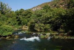 шлепок roski реки национального парка krka Хорватии dalmatia Стоковые Фотографии RF