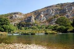 шлепок roski реки национального парка krka Хорватии dalmatia Стоковое Изображение