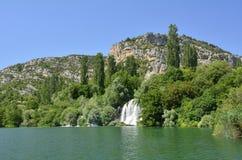 шлепок roski реки национального парка krka Хорватии dalmatia Стоковая Фотография