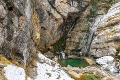 Шлепок Savica водопада, Словения Стоковые Фотографии RF