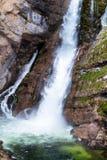 Шлепок Savica водопада, jezero Bohinjsko, Словения Стоковое Фото