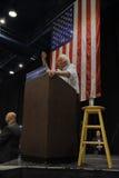 Шлифовальные приборы Bernie говорят на президентском ралли, Modesto, CA Стоковое фото RF