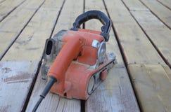 Шлифовальный прибор пояса после работать крепко Стоковое фото RF