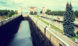 Шлюз Рыбинска Стоковое Изображение RF