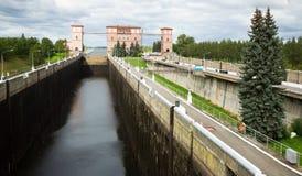 Шлюз Рыбинска Стоковое Изображение