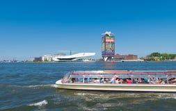 Шлюпка Амстердама sightseeing Стоковая Фотография RF