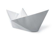 Шлюпка белой бумаги Стоковые Изображения