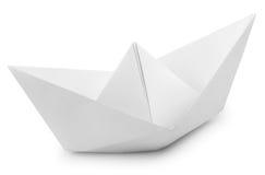 Шлюпка белой бумаги Стоковое фото RF