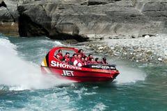 Шлюпка двигателя в Queenstown Новой Зеландии стоковая фотография