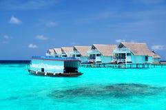 Шлюпка в Мальдивах Стоковое фото RF