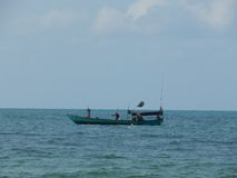 Шлюпка в море в Азии Стоковая Фотография RF