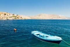 Шлюпка в море Остров Symi Стоковая Фотография RF