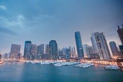 Шлюпка в пристани Дубай залива Стоковая Фотография RF
