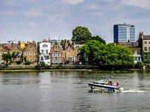 Шлюпка в реке Темзе Стоковые Изображения RF