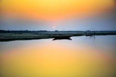 Шлюпка в реке Стоковое Фото