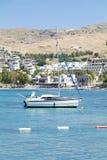 Шлюпка в Эгейском море около Bodrum, Турции Стоковое Изображение RF