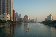 Шлюпка гондолы на реке влюбленности Стоковое Изображение