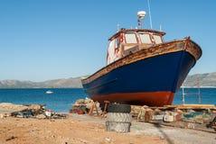 шлюпка Греция стоковые фотографии rf
