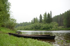 Шлюпка леса реки Стоковое Изображение