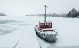 Шлюпка зимы Стоковое фото RF
