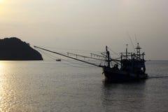 Шлюпка кальмара Стоковые Фотографии RF