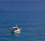 Шлюпка мотора на море Стоковое фото RF
