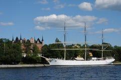 Шлюпка на Балтийском море в Стокгольме Стоковое Изображение RF