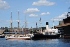 Шлюпка на Балтийском море в Стокгольме Стоковое фото RF