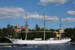 Шлюпка на Балтийском море в Стокгольме Стоковые Изображения RF