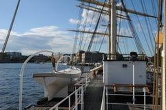 Шлюпка на Балтийском море в Стокгольме Стоковая Фотография RF