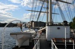Шлюпка на Балтийском море в Стокгольме Стоковая Фотография