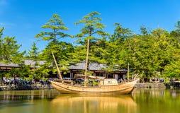 Шлюпка на комплексе виска Todai-ji в Nara Стоковое Изображение