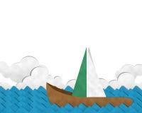 Шлюпка на море Стоковые Фото
