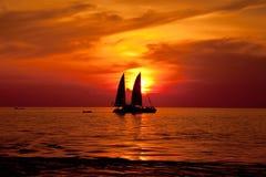 Шлюпка на море Стоковое Изображение