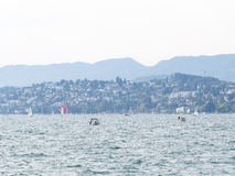 Шлюпка на озере Цюрих Стоковое фото RF