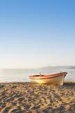 Шлюпка на песке Стоковое Изображение RF