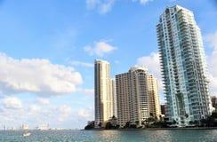 Шлюпка на реке Майами Стоковая Фотография