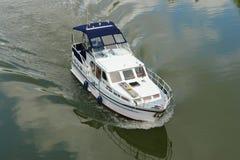 Шлюпка на реке Неккаре Стоковое Изображение RF