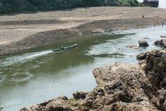 Шлюпка на реке Стоковое Изображение RF
