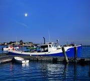 Шлюпка омара в гавани Rye Стоковое Изображение RF