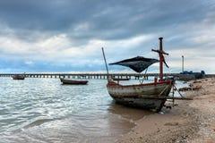 Шлюпка рыболова Таиланда Стоковое фото RF
