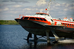 Шлюпка судна на подводных крыльях Стоковое Фото
