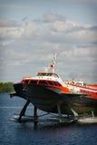 Шлюпка судна на подводных крыльях Стоковые Фото