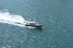 Шлюпка службы береговой охраны (guardia гражданский), Испания, Барселона Стоковая Фотография RF