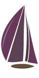 Шлюпка с фиолетовым ветрилом бесплатная иллюстрация